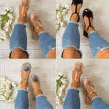 Summer Ladies Leather Shoes Women Sandals Fashion - MikeAndNikes™- We Just Did It - Cream of The Crop®