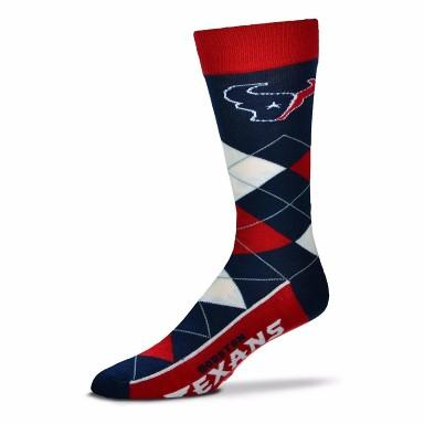 Houston Texans Argyle Crew Cut Socks - MikeAndNikes™- We Just Did It - Cream of The Crop®