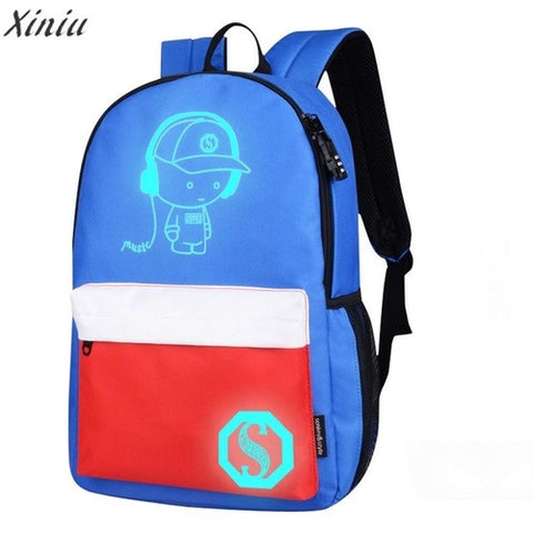 Unisex Backpack Women Light Preppy Teenagers - MikeAndNikes™- We Just Did It - Cream of The Crop®