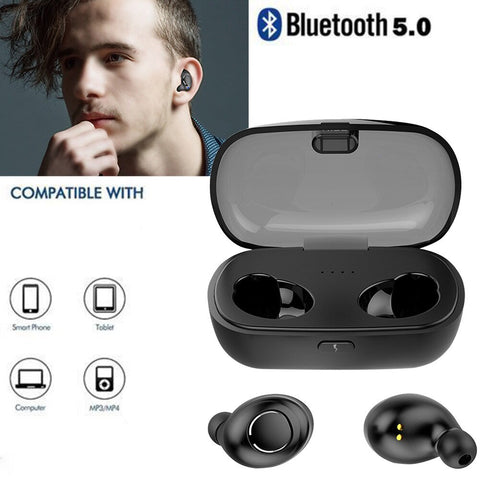 Wireless Invisible Mini 5.0 True Wireless Earbuds - MikeAndNikes™- We Just Did It - Cream of The Crop®