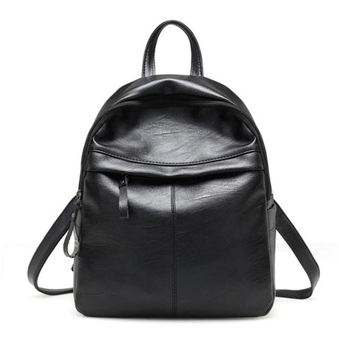 Women's backpack Fashion Leather Simple School Bag - MikeAndNikes™- We Just Did It - Cream of The Crop®
