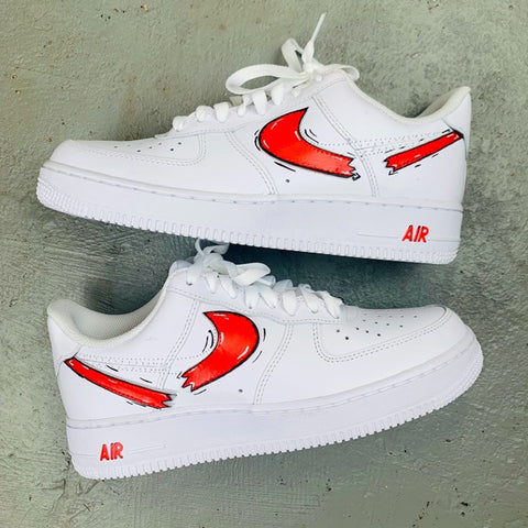 Destroyed Cartoon Swoosh Air Force 1 - MikeAndNikes™- We Just Did It - Cream of The Crop®