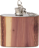 HandCrafted 2 oz. Wood Keychain Flask - MikeAndNikes™- We Just Did It - Cream of The Crop®