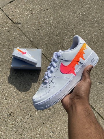Sunset Fade Drip Air Force Ones - MikeAndNikes™- We Just Did It - Cream of The Crop®