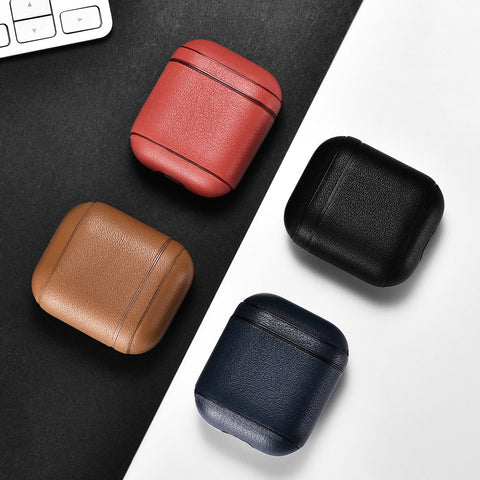 Nappa Leather Airpod Case - MikeAndNikes™- We Just Did It - Cream of The Crop®