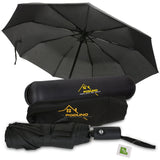 Poduno Black Windproof Travel Folding Umbrella - MikeAndNikes™- We Just Did It - Cream of The Crop®
