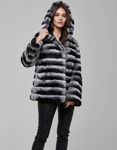 Gray Rex Fur Coat For Women - MikeAndNikes™- We Just Did It - Cream of The Crop®