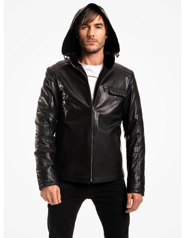Black Leather Jacket For Men - MikeAndNikes™- We Just Did It - Cream of The Crop®
