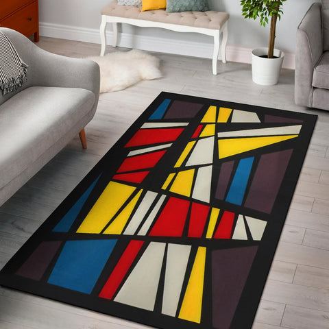 Rubiks Area Rug - MikeAndNikes™- We Just Did It - Cream of The Crop®