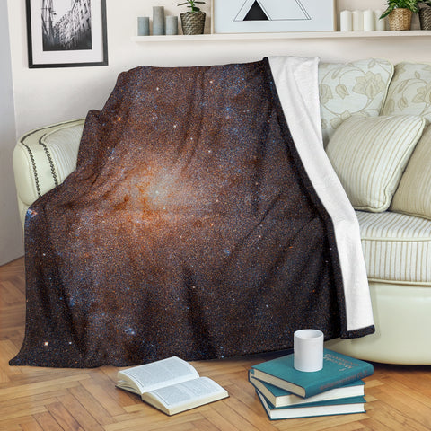 Triangulum Galaxy Micro-Fleece Space Blanket - MikeAndNikes™- We Just Did It - Cream of The Crop®