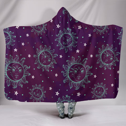 Trendy Sun and Moon Hooded Blanket - MikeAndNikes™- We Just Did It - Cream of The Crop®
