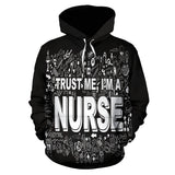 I'm a Nurse Hoodie - MikeAndNikes™- We Just Did It - Cream of The Crop®