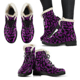 Purple and Black Are Back Faux Fur Vegan Leather Boots - MikeAndNikes™- We Just Did It - Cream of The Crop®