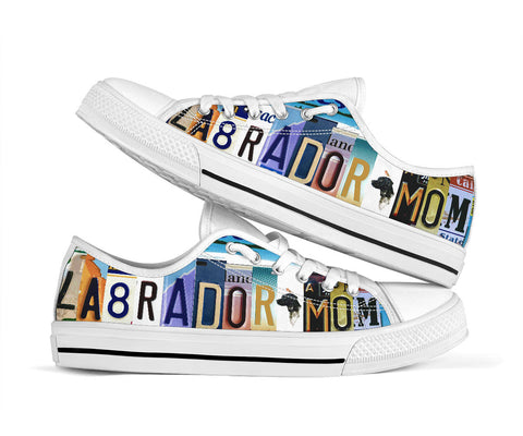 Labrador Mom Low Top Shoes - MikeAndNikes™- We Just Did It - Cream of The Crop®