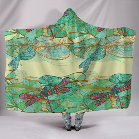Swamp Lotus Dragonfly Hooded Blanket - MikeAndNikes™- We Just Did It - Cream of The Crop®