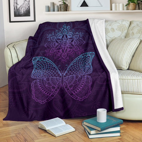 Butterfly Mandala Mood Blanket - MikeAndNikes™- We Just Did It - Cream of The Crop®