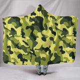 Camouflage Green Hooded Blanket - MikeAndNikes™- We Just Did It - Cream of The Crop®