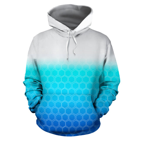 White to deep blue hoodie - MikeAndNikes™- We Just Did It - Cream of The Crop®