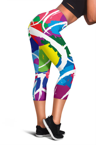 Peace Women's Capris - MikeAndNikes™- We Just Did It - Cream of The Crop®