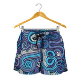 Squiggly Wiggly Blue Shorts - MikeAndNikes™- We Just Did It - Cream of The Crop®