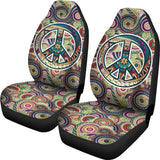 Peace Fractal Swirls Car Seat Cover - MikeAndNikes™- We Just Did It - Cream of The Crop®