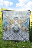 Baby Blue Liquid Gold Quilt - MikeAndNikes™- We Just Did It - Cream of The Crop®