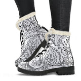 Flower Boots - MikeAndNikes™- We Just Did It - Cream of The Crop®