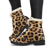 Leopard Animal Print Faux Fur Lined Boots - MikeAndNikes™- We Just Did It - Cream of The Crop®