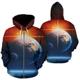 Zip Up Hoodie Earth - MikeAndNikes™- We Just Did It - Cream of The Crop®