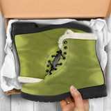 Pepper Stem  - Faux Fur Leather Boots - MikeAndNikes™- We Just Did It - Cream of The Crop®