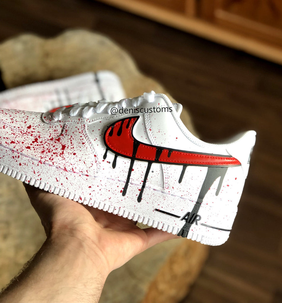 Nike Air Force 1 Low with Red Black
