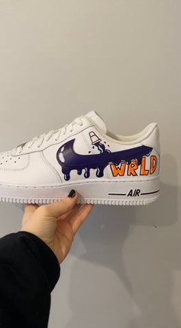 Juice Wrld Custom Air Force 1s - MikeAndNikes™- We Just Did It - Cream of The Crop®