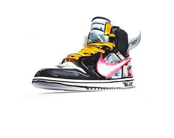 Majin Buu inspired Off White Jordan 1 - MikeAndNikes™- We Just Did It - Cream of The Crop®