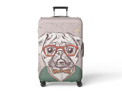 Luggage Suitcase Cover Pug Painting Print Travel - MikeAndNikes™- We Just Did It - Cream of The Crop®