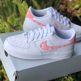 "Air Force 1 ""Pink Supreme L V"" Customs - MikeAndNikes™- We Just Did It - Cream of The Crop®"