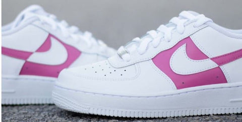 Nike Air Force 1's - Color block - Made in the USA pink - MikeAndNikes™- We Just Did It - Cream of The Crop®