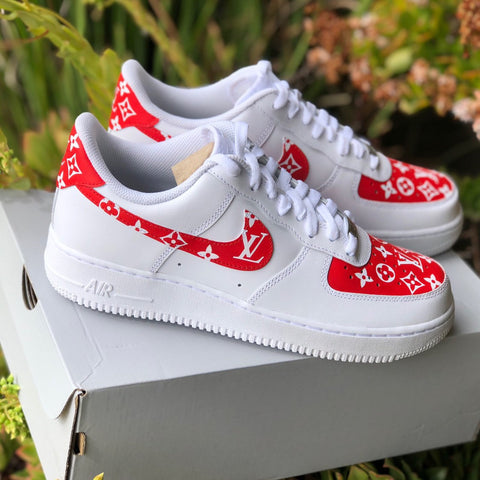 "Air Force 1 ""Supreme L V"" (with front and back tab) Customs - MikeAndNikes™- We Just Did It - Cream of The Crop®"