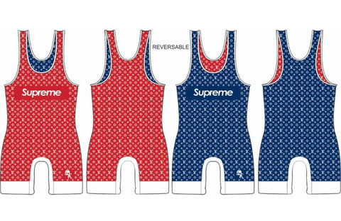 Supreme reversible Louis Vuitton wrestling singlet - MikeAndNikes™- We Just Did It - Cream of The Crop®