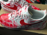 Custom Nike, Custom Air Force 1 For Men Women, Hand Painted Blood Shoes - MikeAndNikes™- We Just Did It - Cream of The Crop®
