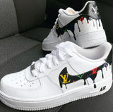 "Lv Custom Air Force 1 Drip"" Customs - MikeAndNikes™- We Just Did It - Cream of The Crop®"