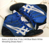 ASICS JL204 Wrestling Shoes Blu/Blk/ - suede/canvas very rare sz 11 - MikeAndNikes™- We Just Did It - Cream of The Crop®
