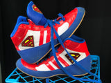 Custom Superman Adidas wrestling shoes sz 5 - MikeAndNikes™- We Just Did It - Cream of The Crop®
