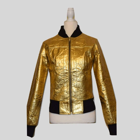 Luxe Outerwear Bomber Jacket Caitlin - MikeAndNikes™- We Just Did It - Cream of The Crop®