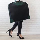 Garment Bag - Black/Green - MikeAndNikes™- We Just Did It - Cream of The Crop®