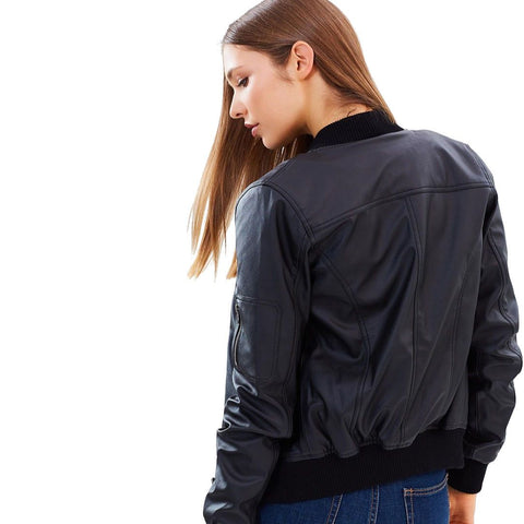 Bomber Jacket Belinda - MikeAndNikes™- We Just Did It - Cream of The Crop®