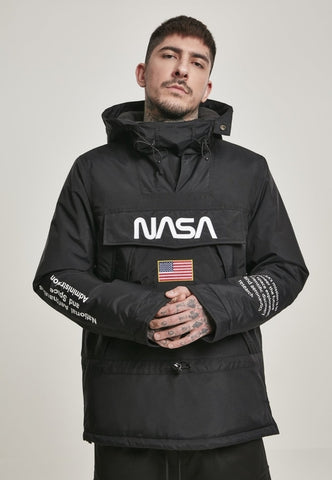 NASA Black Windbreaker - MikeAndNikes™- We Just Did It - Cream of The Crop®