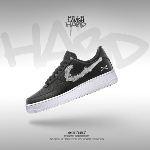 NikeAf1 Bones - air force one custom - MikeAndNikes™- We Just Did It - Cream of The Crop®