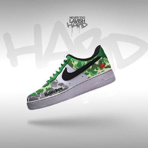 Heineken custom air force one - MikeAndNikes™- We Just Did It - Cream of The Crop®