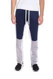 COLOR BLOCK TRACK PANTS- NAVY/ GREY - MikeAndNikes™- We Just Did It - Cream of The Crop®