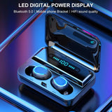 Mini Bluetooth Earphones LED Display Headphones - MikeAndNikes™- We Just Did It - Cream of The Crop®
